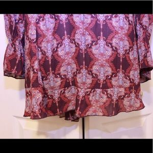 Free People Dresses - Free People Purple Bohemian Print Flounce Dress